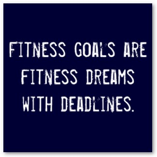 Fitness Goals are Fitness Dreams with Deadlines