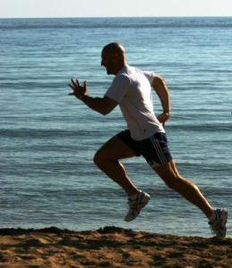 Sprinter on the beach
