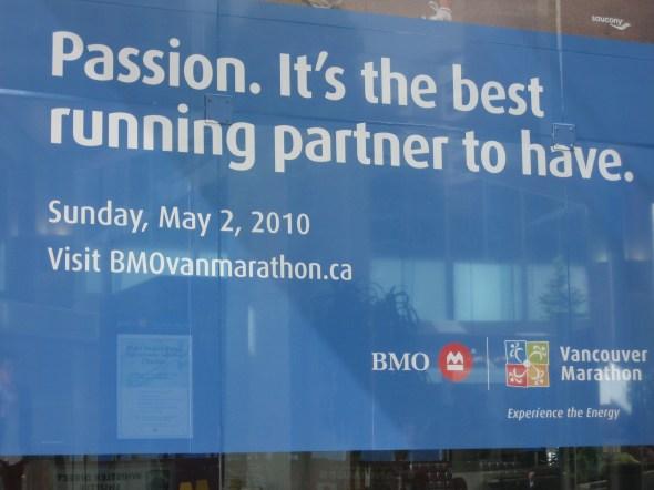 BMO marathon sign